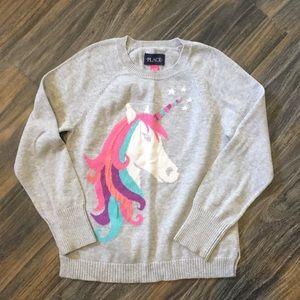 Girls Unicorn Sweater